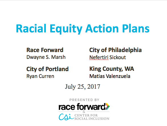 [Webinar Recap] Developing a Racial Equity Action Plan
